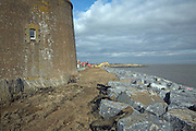 Coastal erosion and management, East Lane, Bawdsey, Suffolk, England
