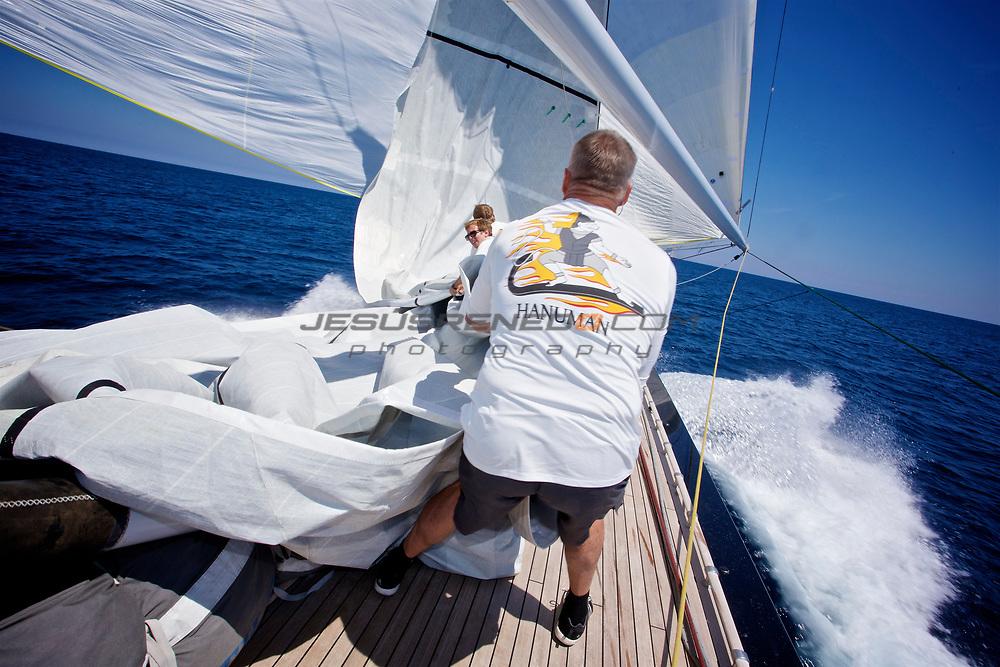 MENORCA MAXI 2014, on board J Class Hanumann© Jesus Renedo