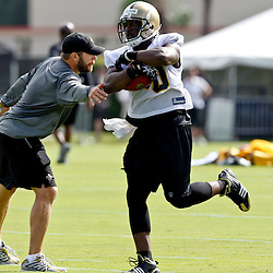 July 29, 2011; Metairie, LA, USA; New Orleans Saints running back Lynell Hamilton (30) during the first day of training camp at the New Orleans Saints practice facility. Mandatory Credit: Derick E. Hingle
