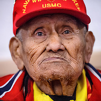 010414       Cable Hoover<br /> <br /> January 4, 2014<br /> Codetalker Chester Nez is the last remaining member of the original 29 codetalkers and helped write the Navajo language code.