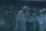 Freedom Is Not Free, Washington DC, District of Columbia. Korean War Memorial, Honors 1.5 Million United States Military Personnel who served in Korea 1950-53
