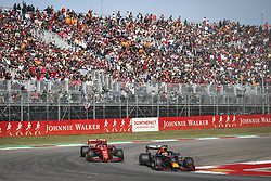 November 3, 2019, Austin, United States of America: Motorsports: FIA Formula One World Championship 2019, Grand Prix of United States, ..#33 Max Verstappen (NLD, Aston Martin Red Bull Racing), #16 Charles Leclerc (MCO, Scuderia Ferrari Mission Winnow) (Credit Image: © Hoch Zwei via ZUMA Wire)