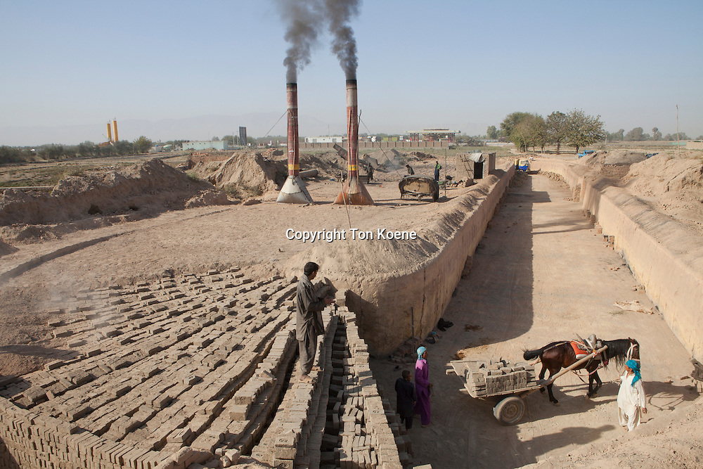 Brick factory in Kunduz, Afghanistan.