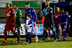 Bristol Rovers mascot leads the side out with Ollie Clarke of Bristol Rovers - Mandatory by-line: Robbie Stephenson/JMP - 04/12/2019 - FOOTBALL - Memorial Stadium - Bristol, England - Bristol Rovers v Leyton Orient - Leasing.com Trophy