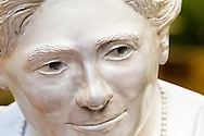 Detail, statue of Mina Miller Edison (1896-1947) by D.J. Wilkins, Edison & Ford Winter Estates, Fort Myers, Florida