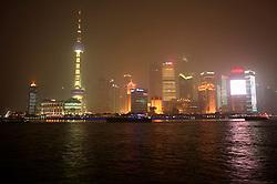CHINA SHANGHAI 19MAY10 - Pudong skyline across from the Hunangpu River, seen from the Bund in downtown Shanghai...jre/Photo by Jiri Rezac..© Jiri Rezac 2010