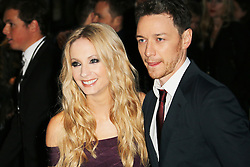 © Licensed to London News Pictures. 30/09/2013, UK.  Joanne Froggatt; James McAvoy,  Filth - London film premiere, Odeon West End cinema Leicester Square, London UK, 30 September 2013. Photo credit : Richard Goldschmidt/Piqtured/LNP