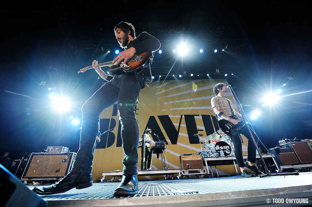 The Bravery performing on the Projekt Revolution Tour at the Verizon Wireless Amphitheater St. Louis on August 21, 2008.