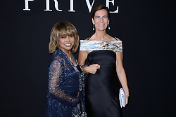 Tina Turner, here with Roberta Armani, attended the Giorgio Armani Prive Haute Couture Fall/Winter 2018-2019 show in Paris, France on Tuesday July 3, 2018, hours before her son was found dead from suicide. The 78-year-old singer's eldest son Craig Raymond Turner was found dead of a self-inflicted gunshot wound, aged 59, at his home in Studio City, California, TMZ reports. Photo by