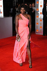 Viola Davis arrives for the 2012 ORANGE BRITISH ACADEMY FILM AWARDS, The Bafta's at The Royal Opera House, Covent Garden, London. Photo By I-Images