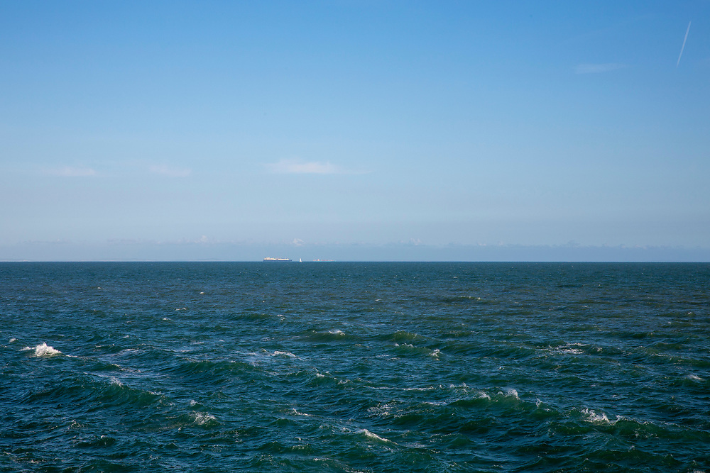 Ships sit on the horizon in the English Channel from Folkestone, Kent, England, United Kingdom.  (photo by Andrew Aitchison / In pictures via Getty Images)