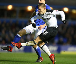 Derby County's Matej Vydra scores his side's second goal of the game