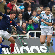 Lucas Gonzalez Amorosino, Argentina, in action during the Argentina V France test match at Estadio Jose Amalfitani, Buenos Aires,  Argentina. 26th June 2010. Photo Tim Clayton...