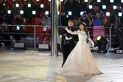 March 9, 2018 - Pyeongchang, GANGWON, SOUTH KOREA - March 09, 2018-Pyeongchang, South Korea-Soprano Cho Su mi and Singer So Hyang performs during the opening ceremony of the PyeongChang 2018 Paralympic Games at the PyeongChang Olympic Stadium in Pyeongchang, South Korea. (Credit Image: © Gmc via ZUMA Wire)
