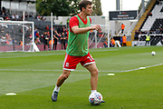 Middlesbrough midfielder Jonathan Howson (16) warms up before kick off during the EFL Sky Bet Championship match between Fulham and Middlesbrough at Craven Cottage, London, England on 23 September 2017. Photo by Andy Walter.