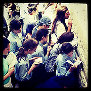 Jerusalem, Israel. September 18th 2011.The women side of the Western Wall...