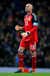 Willy Caballero of Argentina celebrates - Mandatory by-line: Matt McNulty/JMP - 23/03/2018 - FOOTBALL - Etihad Stadium - Manchester, England - Argentina v Italy - International Friendly