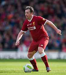 LIVERPOOL, ENGLAND - Saturday, March 24, 2018. Robbie Fowler of Liverpool Legends in action during the LFC Foundation charity match between Liverpool FC Legends and FC Bayern Munich Legends at Anfield. (Pic by Peter Powell/Propaganda)