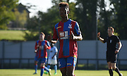 Jason Lokilo gives a thumbs up in his second outing for Palace during the Final Third Development League match between U21 Crystal Palace and U21 Coventry City at Selhurst Park, London, England on 12 October 2015. Photo by Michael Hulf.