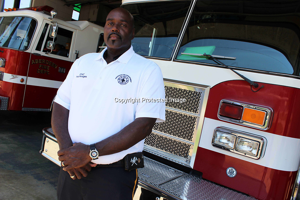 RAY VAN DUSEN/BUY AT PHOTOS.MONROECOUNTYJOURNAL.COM<br /> Aberdeen Fire Chief Fred Hodges has worked with the fire department since 1986 and served as assistant chief for 16 years. He was recently chosen to fill the role left by retired fire chief Frank Gladney.