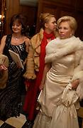 Karina Tinkova, Xenia Gorbachev and  Irina Gorbachev.  Crillon 2004 Debutante Ball. Crillon Hotel. Paris. 26 November 2004. ONE TIME USE ONLY - DO NOT ARCHIVE  © Copyright Photograph by Dafydd Jones 66 Stockwell Park Rd. London SW9 0DA Tel 020 7733 0108 www.dafjones.com