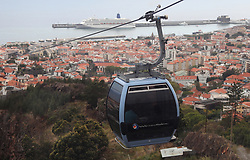 May 3, 2019 - Funchal, Portugal - Cable car with a panoramic view of Funchal, Madeira Island. Portugal, Friday, May 4th, 2019. (Credit Image: © Danil Shamkin/NurPhoto via ZUMA Press)