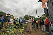 Farm owner Steven Verrill gives a detailed lecture on asparagus during the annual Asparagus Festival activities at Verrill Farm in Concord midday Saturday.   Wicked Local Photo/James Jesson