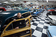 "James ""Bozo"" Cordova, proprietor of Bozo's Garage and the Route 66 Auto Museum. - Steven St. John for New Mexico Magazine"