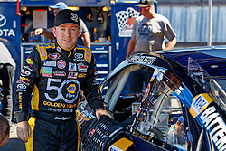 ROSEBURG, OR - AUGUST 27: Chris Eggleston driver of the #50 NAPA Filters Toyota stands next to his car in the gard during practice for the NASCAR K&N Pro Series West Toyota/NAPA Auto Parts 150 at the Douglas County Speedway on August 27, 2016 in Roseburg, Oregon. (Photo by Jason O. Watson/NASCAR via Getty Images) *** Local Caption *** Chris Eggleston
