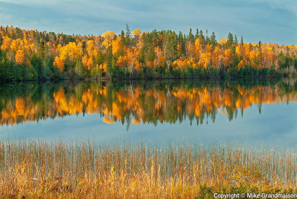 Autumn colors at Andy Lake<br />Near Kenora<br />Ontario<br />Canada