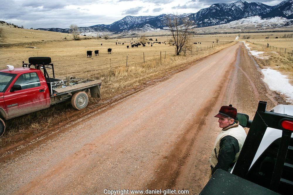 Reportage sur Jerry, eleveur de betail dans la vallee du Paradis pres de Livingston, Montana, USA//Report on Jerry, farmer in the Paradis Vallee, near Livingston, Montana, USA