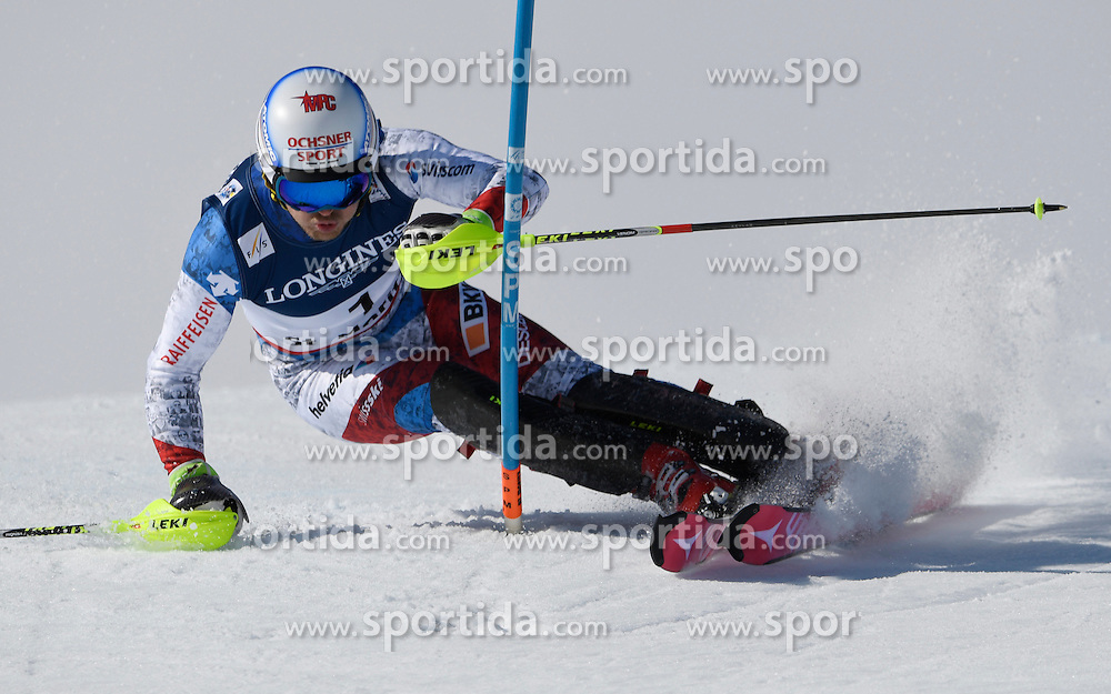 13.02.2017, St. Moritz, SUI, FIS Weltmeisterschaften Ski Alpin, St. Moritz 2017, alpine Kombination, Herren, Slalom, im Bild Mauro Caviezel (SUI, Herren Alpine Kombination Bronzemedaille) // men&rsquo;s Alpine Combined Bronze medalist Mauro Caviezel of Switzerland in action during his run of Slalom competition for the men's Alpine combination of the FIS Ski World Championships 2017. St. Moritz, Switzerland on 2017/02/13. EXPA Pictures &copy; 2017, PhotoCredit: EXPA/ Sammy Minkoff<br /> <br /> *****ATTENTION - OUT of GER*****