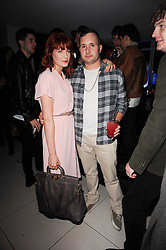 FLORENCE WELCH and KIM JONES at the W Hotels & American Express launch for the James Small collection at Number One Leicester Square, London on 22nd September 2010.