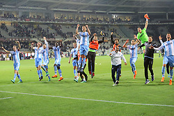 April 29, 2018 - Turin, Piedmont, Italy - SS Lazio players celebrate the victory after the Serie A football match between Torino FC and SS Lazio at Olympic Grande Torino Stadium on April 29, 2018 in Turin, Italy..Final results is 0-1. (Credit Image: © Massimiliano Ferraro/NurPhoto via ZUMA Press)