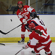 Kayla Tutino, Boston University, in action during the UConn Vs Boston University, Women's Ice Hockey game at Mark Edward Freitas Ice Forum, Storrs, Connecticut, USA. 5th December 2015. Photo Tim Clayton