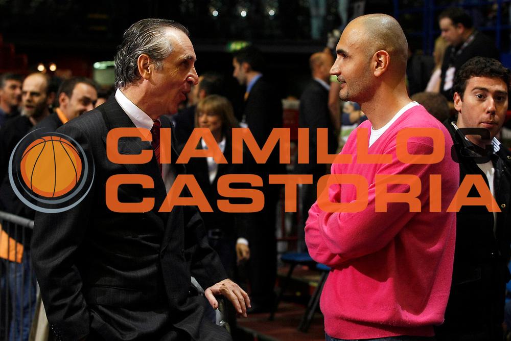 DESCRIZIONE : Milano Lega A1 2007-08 Playoff Semifinale Gara 2 Armani Jeans Milano Montepaschi Siena <br /> GIOCATORE : Ferdinando Minucci Petar Naumoski<br /> SQUADRA : Montepaschi Siena <br /> EVENTO : Campionato Lega A1 2007-2008 <br /> GARA : Armani Jeans Milano Montepaschi Siena<br /> DATA : 24/05/2008 <br /> CATEGORIA : Ritratto<br /> SPORT : Pallacanestro <br /> AUTORE : Agenzia Ciamillo-Castoria/G.Cottini