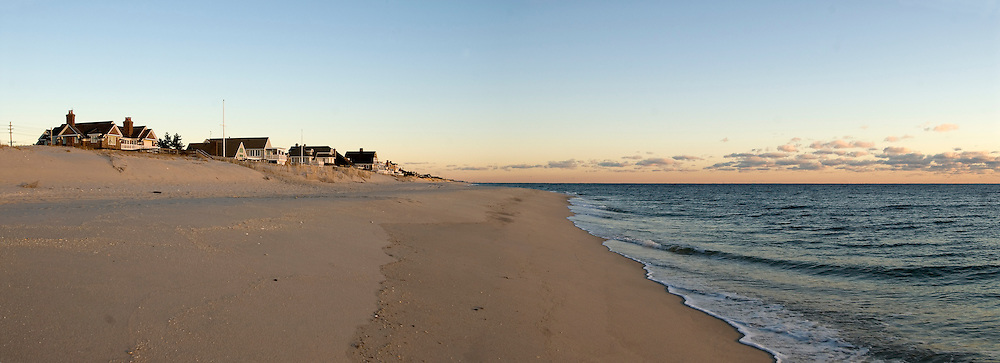 New Jersey, Mantoloking, sand fence, panorama
