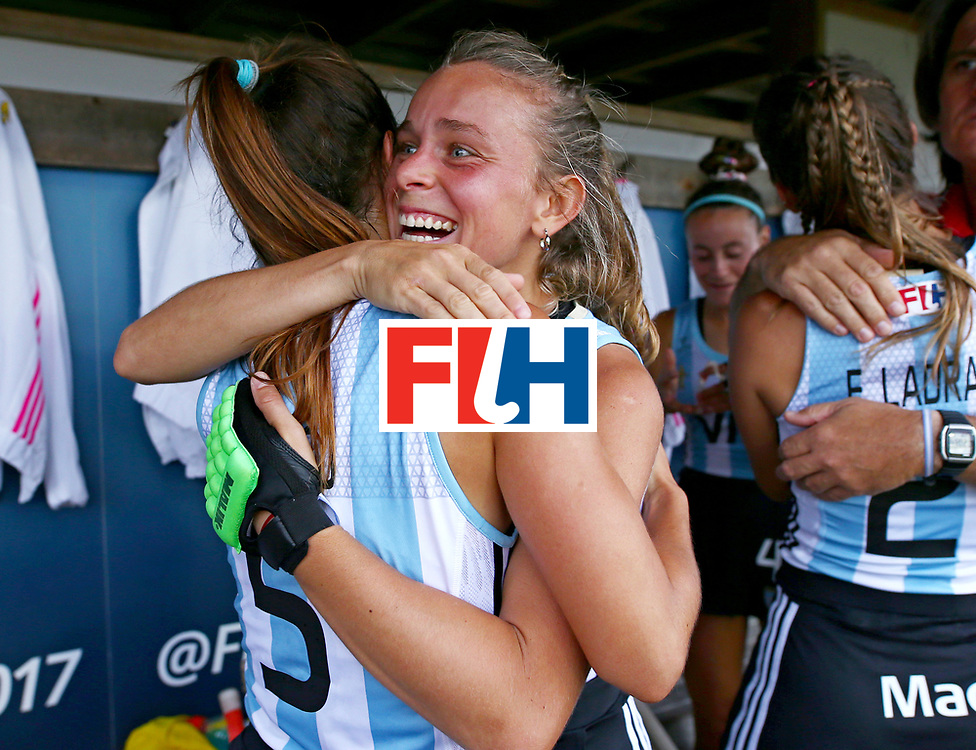 New Zealand, Auckland - 24/11/17  <br /> Sentinel Homes Women&rsquo;s Hockey World League Final<br /> Harbour Hockey Stadium<br /> Copyrigth: Worldsportpics, Rodrigo Jaramillo<br /> Match ID: 10307 - ARG-GER<br /> Photo: (18) SAUZE Victoria and (5) ALONSO Agostina