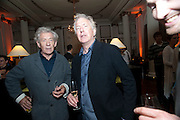 IAN MCKELLEN; ; ALAN RICKMAN; The after party following the Vaudeville Theatre press night of 'I Bought a Blue Car Today', at The Waldorf Hilton Hotel. Aldwych. London. 2 September 2009.
