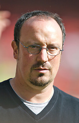 Wrexham, Wales - Saturday, July 7, 2007: Liverpool's manager Rafael Benitez during a preseason match against Wrexham at the Racecourse Ground. (Photo by David Rawcliffe/Propaganda)