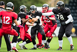 Kent Exiles  in action - Mandatory by-line: Jason Brown/JMP - 27/08/2016 - AMERICAN FOOTBALL - Sixways Stadium - Worcester, England - Kent Exiles v East Kilbride Pirates - BAFA Britbowl Finals Day