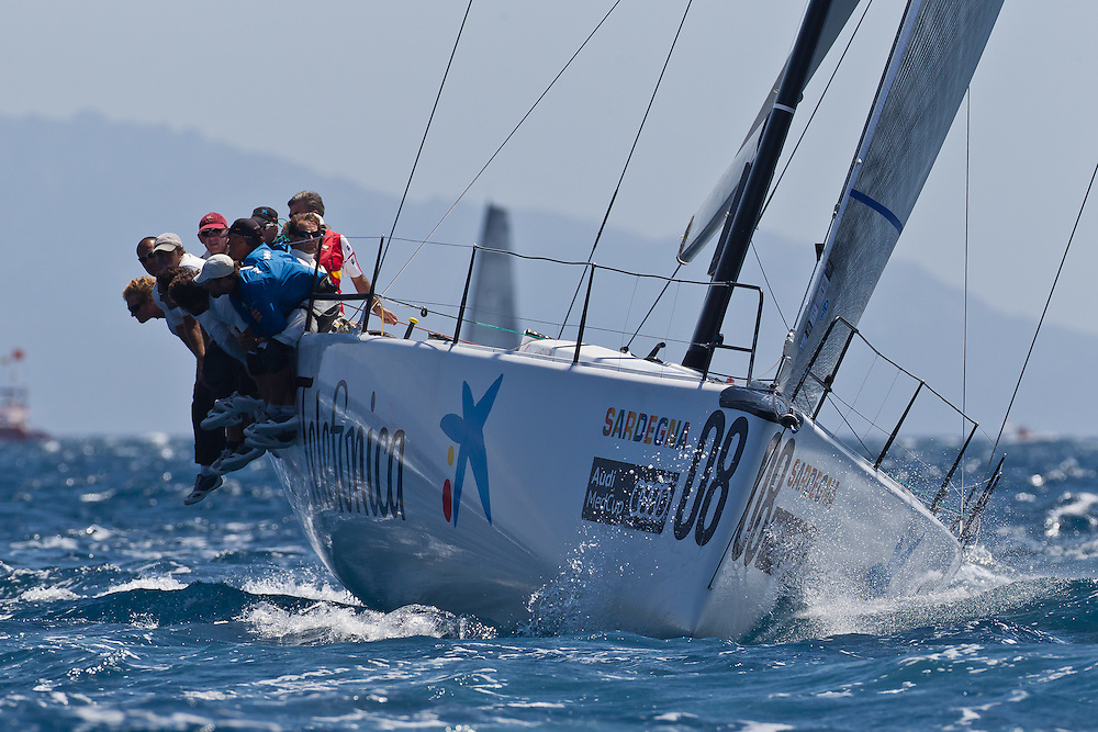 ITALY, Sardinia, Cagliari. 24th July 2011. AUDI MedCup. Region of Sardinia Trophy. TP52, BRIBON.