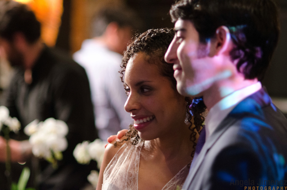 Simon & Laura are married in a wedding at Deity Lounge in Brooklyn, New York on August 4, 2012...Photo by Angela Jimenez .www.angelajimenezphotography.com