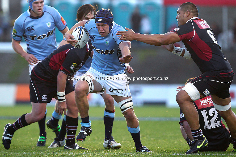 Northland's Cameron Eyre on the charge. ITM Cup rugby union match, Northland v North Harbour at Northland Events Centre Toll Stadium, Whangarei, New Zealand. Sunday 8th August 2010. Photo: Anthony Au-Yeung/PHOTOSPORT