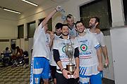 DESCRIZIONE : Final Eight Coppa Italia 2015 Finale Olimpia EA7 Emporio Armani Milano - Dinamo Banco di Sardegna Sassari<br /> GIOCATORE : Giacomo De Vecchi Brian Sacchetti Massimo Chessa Matteo Formenti Manuel Vannuzzo<br /> CATEGORIA : esultanza post game post game<br /> SQUADRA : Banco di Sardegna Sassari<br /> EVENTO : Final Eight Coppa Italia 2015<br /> GARA : Olimpia EA7 Emporio Armani Milano - Dinamo Banco di Sardegna Sassari<br /> DATA : 22/02/2015<br /> SPORT : Pallacanestro <br /> AUTORE : Agenzia Ciamillo-Castoria/Max.Ceretti