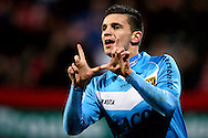 Onderwerp/Subject: Eredivisie<br /> Reklame:  <br /> Club/Team/Country: <br /> Seizoen/Season: 2012/2013<br /> FOTO/PHOTO: Brian LINSSEN of VVV Venlo celebrating his goal ( 1 - 2 ). (Photo by PICS UNITED)<br /> <br /> Trefwoorden/Keywords: <br /> #02 #17 $94 ±1355229055132<br /> Photo- & Copyrights © PICS UNITED <br /> P.O. Box 7164 - 5605 BE  EINDHOVEN (THE NETHERLANDS) <br /> Phone +31 (0)40 296 28 00 <br /> Fax +31 (0) 40 248 47 43 <br /> http://www.pics-united.com <br /> e-mail : sales@pics-united.com (If you would like to raise any issues regarding any aspects of products / service of PICS UNITED) or <br /> e-mail : sales@pics-united.com   <br /> <br /> ATTENTIE: <br /> Publicatie ook bij aanbieding door derden is slechts toegestaan na verkregen toestemming van Pics United. <br /> VOLLEDIGE NAAMSVERMELDING IS VERPLICHT! (© PICS UNITED/Naam Fotograaf, zie veld 4 van de bestandsinfo 'credits') <br /> ATTENTION:  <br /> © Pics United. Reproduction/publication of this photo by any parties is only permitted after authorisation is sought and obtained from  PICS UNITED- THE NETHERLANDS