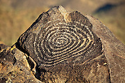 Spriral petroglyph on Signal Hill in Saguaro National Park, Arizona