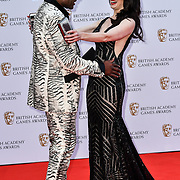 Danielle Bisutti and Christopher Judge Arrivers at the British Academy (BAFTA) Games Awards at Queen Elizabeth Hall, Southbank Centre  on 4 March 2019, London, UK.
