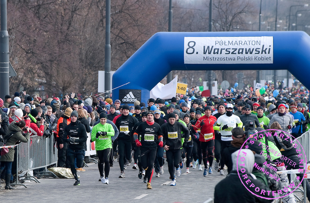 The 8th Warsaw Half Marathon on March 24, 2013...Poland, Warsaw, March 24, 2013...Picture also available in RAW (NEF) or TIFF format on special request...For editorial use only. Any commercial or promotional use requires permission...Photo by © Adam Nurkiewicz / Mediasport