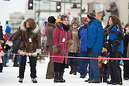 3/1/2008 - Start of the 2008 Iditarod Sled Dog Race in downtown Anchorage, Alaska.